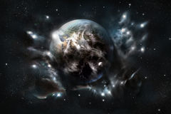 Other Earth. 3d picture Walpaper Stock Photos
