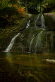 The other Moss Glen Falls in autumn Royalty Free Stock Images
