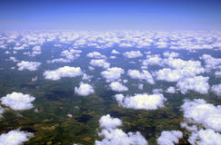 From the other side. Clouds from above Stock Photography