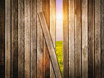 Other Side of Fence Concept Stock Photography