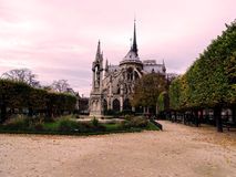 An other side of Notre dame de Paris, France. Royalty Free Stock Photography