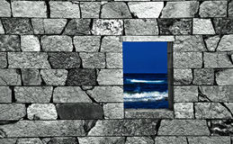 The other side of a wall royalty free stock photos