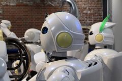 Other than cars, Toyota also develop humanoid robots, who even c royalty free stock photo