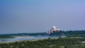 Taj Mahal, the world wonder on the banks of Yamuna royalty free stock photos