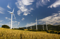 Other windmill landscape Royalty Free Stock Photo