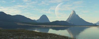 Otherworldly landscape Royalty Free Stock Images