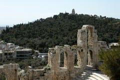 Otheum de Herodes no Acropolis (Atenas) fotografia de stock royalty free