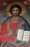 Othodox-Fresko von Jesus Stockfoto