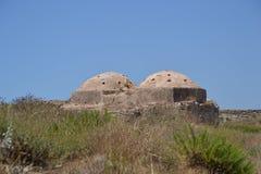 Othoman Hamams, castelo de Methoni Fotografia de Stock Royalty Free