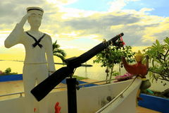 Oti泰国的水手雕象 图库摄影