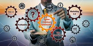 Otimização de Initiating Online Checkout do consultante ilustração do vetor