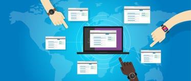Otimização refferal do Search Engine do seo do Web site da construção da relação da relação traseira Imagens de Stock