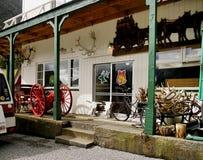Otira Stagecoach Hotel, New Zealand. Otira Stagecoach Hotel and antiques. Arthur`s Pass National Park. New Zealand Royalty Free Stock Image