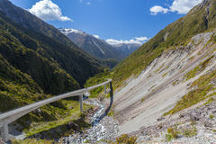 Otira Viaduct, Arthur's Pass, Canterbury, New Zealand Stock Photo