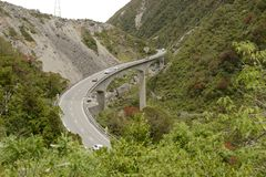 Otira Viaduct in Arthurs Pass National PArk Royalty Free Stock Images