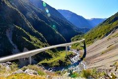Otira-Viadukt-Ausblick lizenzfreie stockbilder