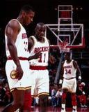Otis Thorpe och Vernon Maxwell, Houston Rockets Royaltyfri Foto
