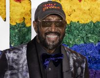 Otis Williams at the 2019 Tony Awards. Otis Williams arrives  on the red carpet at the 73rd annual Tony Awards held at Radio City Music Hall in New York City on stock image