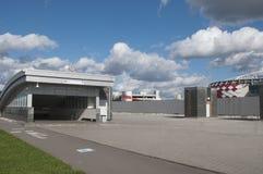Otkrytiye竞技场, Spartak橄榄球俱乐部体育场,地铁车站 库存图片