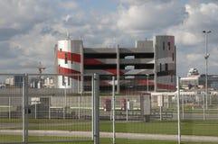 Otkrytiye竞技场, Spartak橄榄球俱乐部体育场,汽车停车处 库存照片