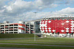 Otkrytiye竞技场, Spartak橄榄球俱乐部体育场 库存图片