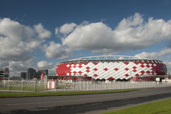 Otkrytiye竞技场, Spartak橄榄球俱乐部体育场 免版税库存图片
