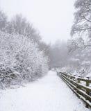Otley Chevin, UK i snön Arkivbilder