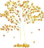 Otoño abstracto del árbol del vector Foto de archivo libre de regalías