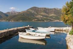 Otoño Bahía de Kotor, Montenegro Imágenes de archivo libres de regalías