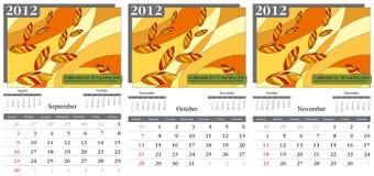 Otoño. Calendario 2012. Imagen de archivo