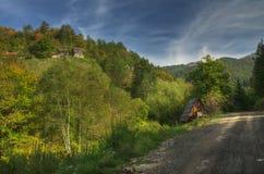 Otoño cerca del lago Zaovine, Serbia occidental Fotografía de archivo