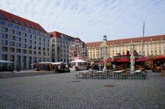 Otoño de Altmarkt justo en Dresden Foto de archivo