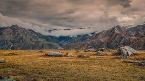 Otoño de oro en el Altai fotos de archivo libres de regalías