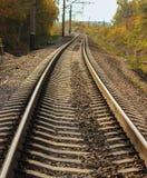 Otoño de Railwayline Fotos de archivo