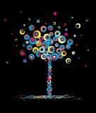 Otoño del árbol, abstracto. Vector. Imágenes de archivo libres de regalías