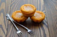 Otoño del colorante en color anaranjado: molletes de la calabaza Imagenes de archivo