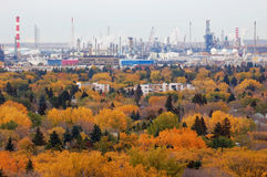 Otoño Edmonton foto de archivo
