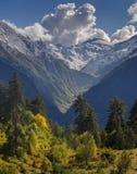 Otoño en altas montañas Fotografía de archivo libre de regalías