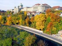 Otoño en Berna Imagen de archivo libre de regalías