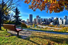 Otoño en Calgary, Canadá Imágenes de archivo libres de regalías