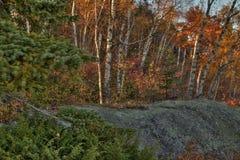 Otoño en Carlton Peak de las montañas del diente de sierra en Minnesota septentrional en la orilla del norte del lago Superior fotografía de archivo libre de regalías