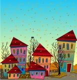 Otoño en ciudad libre illustration