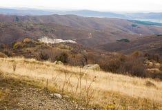 Otoño en colinas balcánicas Imagen de archivo