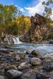 Otoño en Crystal Mill Colorado Landscape Foto de archivo