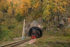 Otoño en el ferrocarril de Circum-Baikal Fotos de archivo libres de regalías