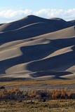 Otoño en el gran parque nacional de las dunas de arena Foto de archivo libre de regalías