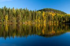 otoño en el lago Fotos de archivo