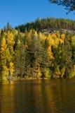 Otoño en el lago en Finlandia imagen de archivo
