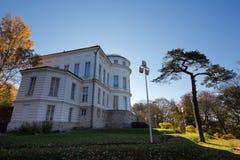 Otoño en el palacio de Bogoroditsky, estado del señorío del conde Bobrinsky imágenes de archivo libres de regalías