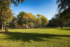 Otoño en el parque de Topcider Fotografía de archivo